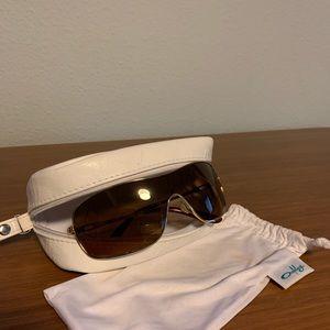 Oakley gold rimmed sunglasses